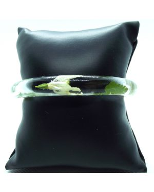 Snowdrop and fern narrow bracelet