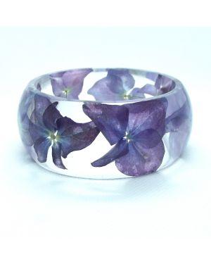 Hydrangea wide bracelet
