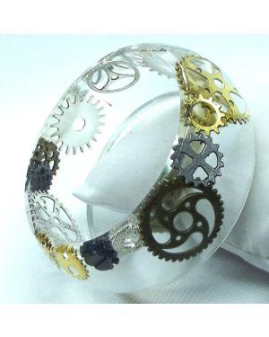 Steampunk cogs bracelet