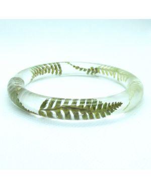 Scottish fern oval narrow bracelet