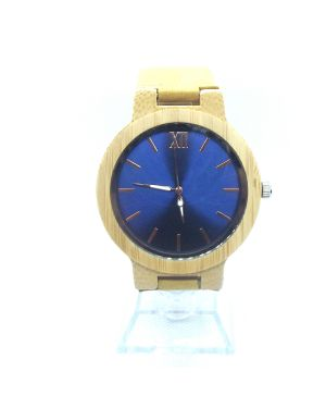 Blue Bamboo women personalised laser engraved watch