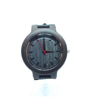 Dark Bamboo personalised laser engraved watch