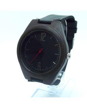 Dark sandalwood men personalised laser engraved watch
