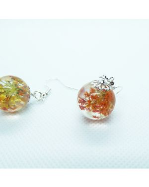 Orange and Yellow orb earrings