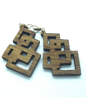 Wooden laser cut earring