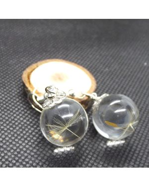 Dandelion seeds orb earrings