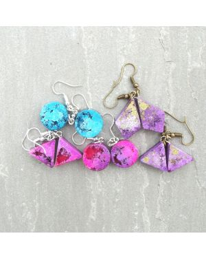 Alcohol ink resin earrings