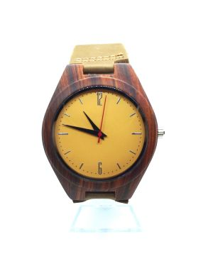 Natural sandalwood personalised laser engraved watch