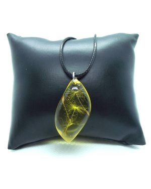 Dandelion seeds yellow pendant