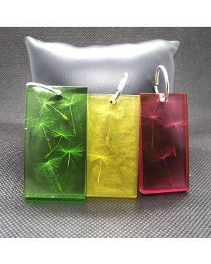 Dandelion seeds colorful pendant