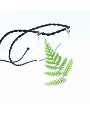 Scottish fern rectangle pendant