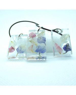 Pastel petals pendant and earrings set