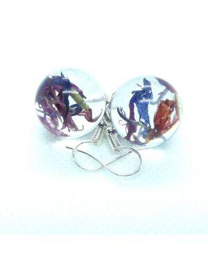 Cornflower orb earrings