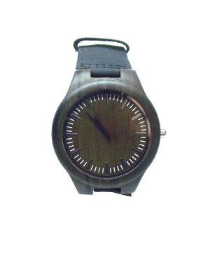 Sandalwood dark brown personalised laser engraved watch