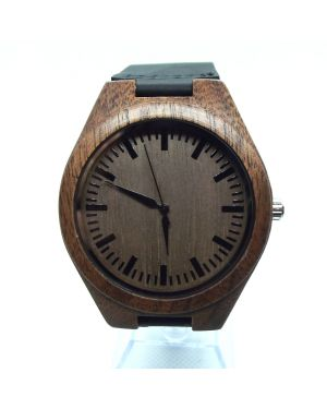 Walnut (black) personalised laser engraved watch