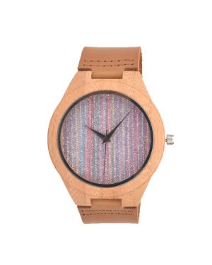 Personalised Colorful Natural Bamboo Wood Women Watch