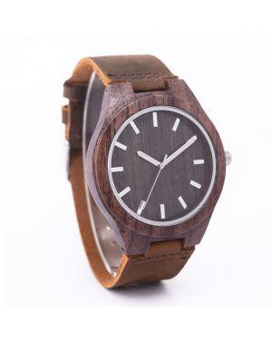 Sandalwood personalised laser engraved watch