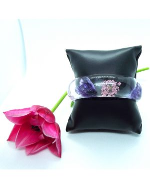Purple and pink petals bangle