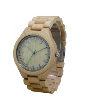 Personalised Laser Engraved Natural Bamboo Wood Watch