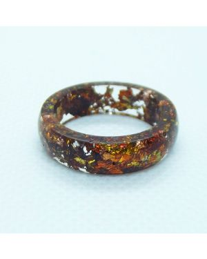 Red antique resin ring