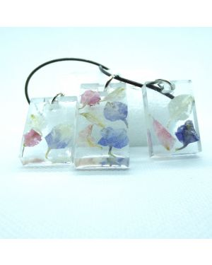 Pastel petals pendant and earrings set