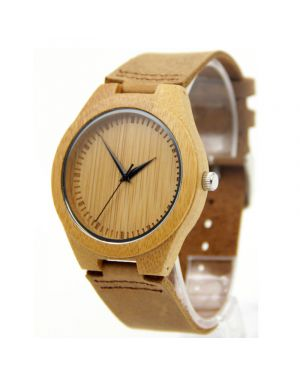 Bamboo personalised laser engraved watch