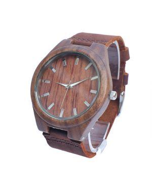 Walnut personalised laser engraved watch