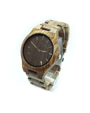 Personalised Laser Engraved Exotic Wood Watch