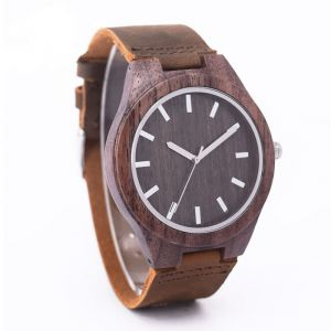 Walnut brown personalised laser engraved watch
