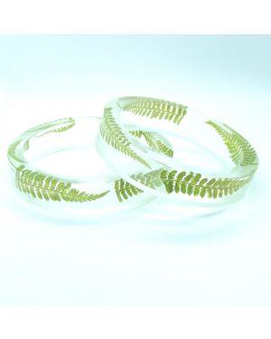 Scottish fern flat narrow bracelet