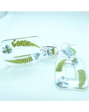 Real fern and veronica earrings