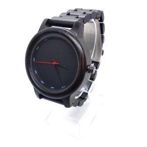 Personalised Laser Engraved Ebony Wood Watch