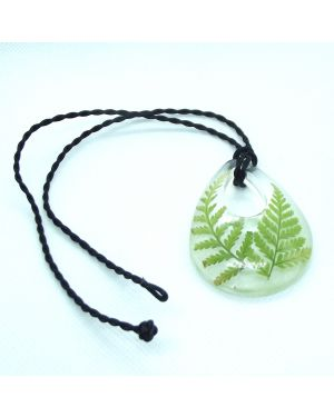 Scottish fern drop pendant