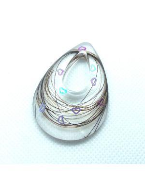 Custom embedded baby/pet hair necklace / pendant keepsake