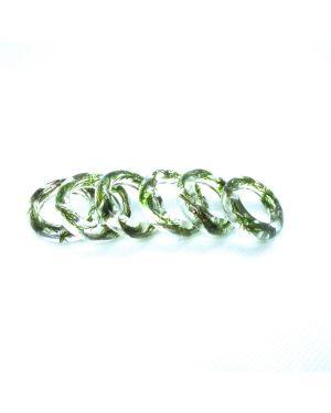 Scottish moss oval resin ring