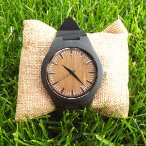 Brown Sandalwood personalised laser engraved watch