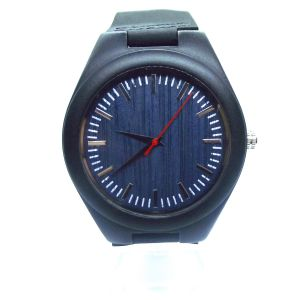 Blue sandalwood personalised laser engraved watch
