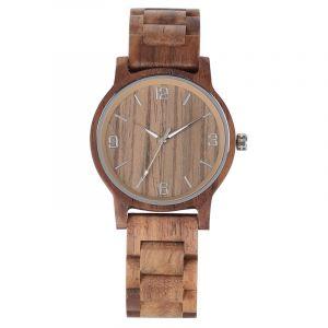Personalised Laser Engraved Walnut Watch