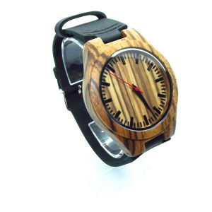 Zebrawood black personalised laser engraved women watch