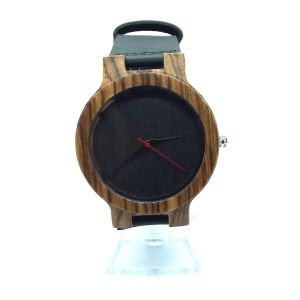 Zebrawood grey personalised laser engraved mens watch